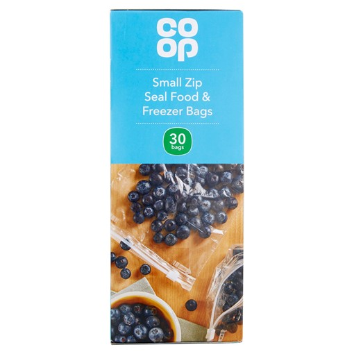 Picture of Co Op 30 Small Zip Seal Food & Freezer Bags