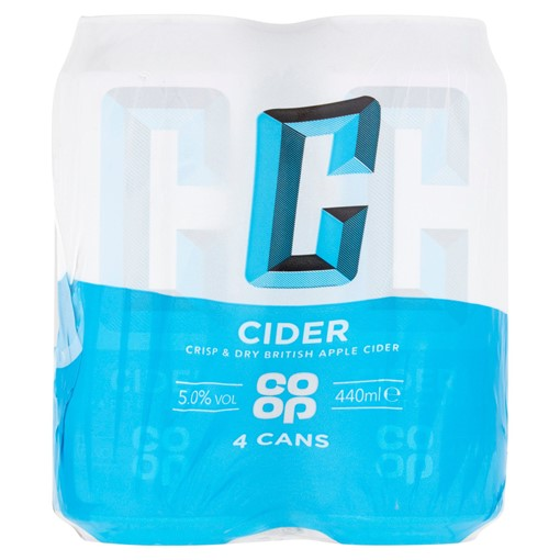Picture of Co-op Cider 4 x 440ml