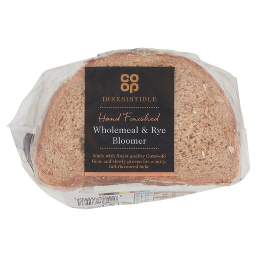 Picture of Co Op Irresistible Wholemeal & Rye Half Bloomer 400g