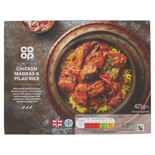 Picture of Co-op Chicken Madras & Pilau Rice 425g