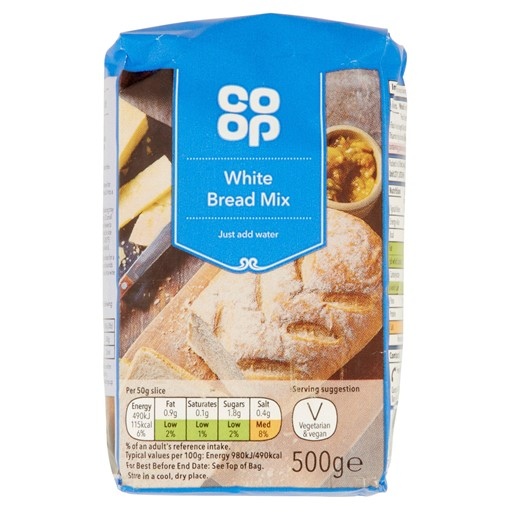 Picture of Co-op White Bread Mix 500g
