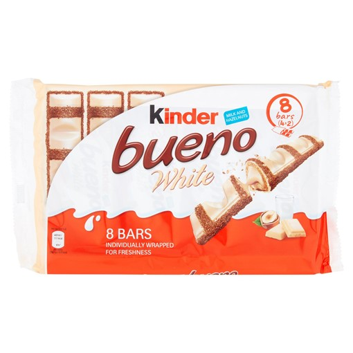 Picture of Kinder Bueno White Milk and Hazelnuts Bars 4 x 39g (156g)