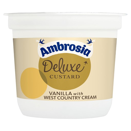 Picture of Ambrosia Deluxe Custard Vanilla with West country Cream 110g