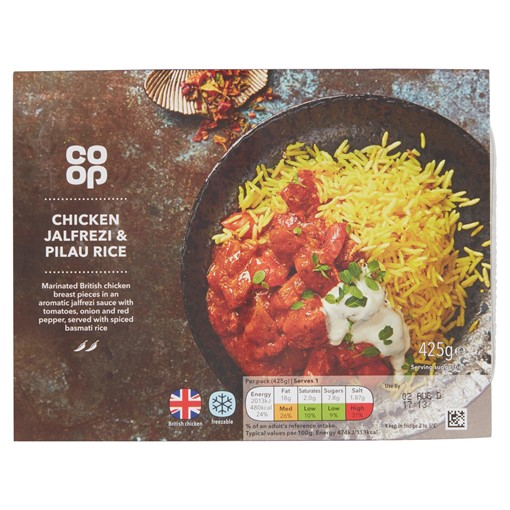 Picture of Co-op Chicken Jalfrezi & Pilau Rice 425g