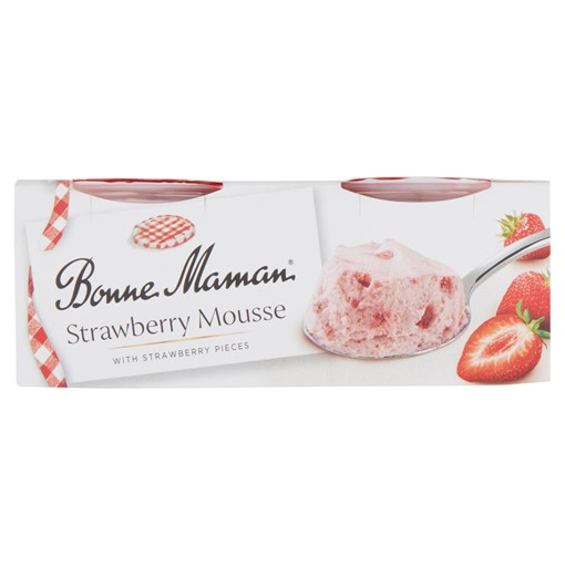 Picture of Bonne Maman Strawberry Mousse with Strawberry Pieces 2 x 70g