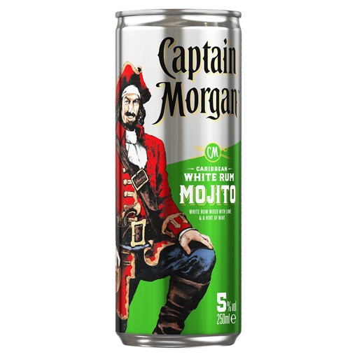 Picture of Captain Morgan White Rum Mojito Ready to Drink, 250ml (12 pack)