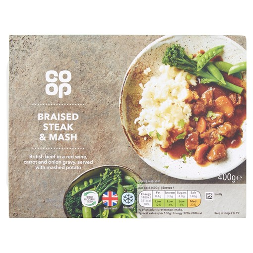 Picture of Co Op Braised Steak & Mash 400g