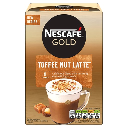 Picture of Nescafe Gold Toffee Nut Latte Coffee 19.5g x 8 Sachets