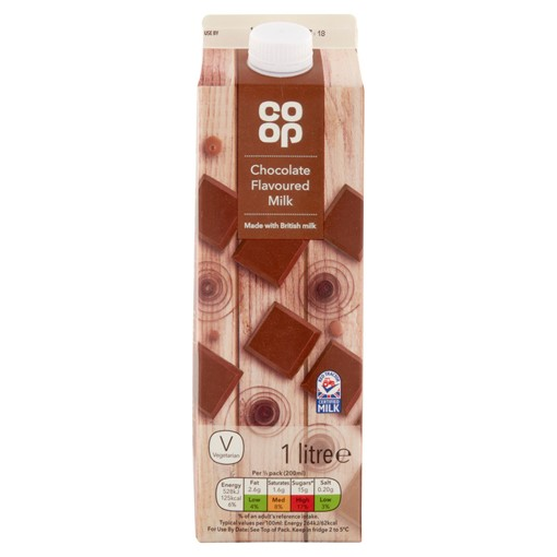 Picture of Co-op Chocolate Milk 1 Litre