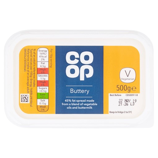 Picture of Co-op Buttery 500g