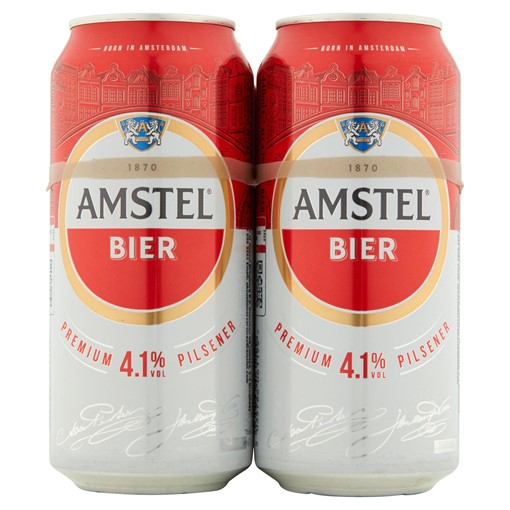 Picture of Amstel Bier Lager Beer 4 x 440ml Cans