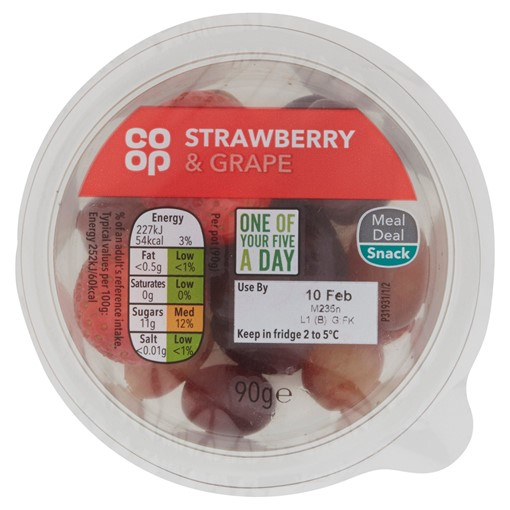 Picture of Co Op Strawberry & Grape 90g