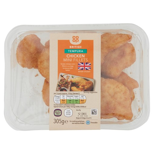 Picture of Co-op Tempura Chicken Mini Fillets 305g