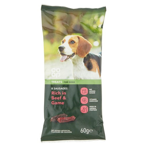 Picture of Co Op Pet Treats for Dogs 8 Deli Sausages 60g