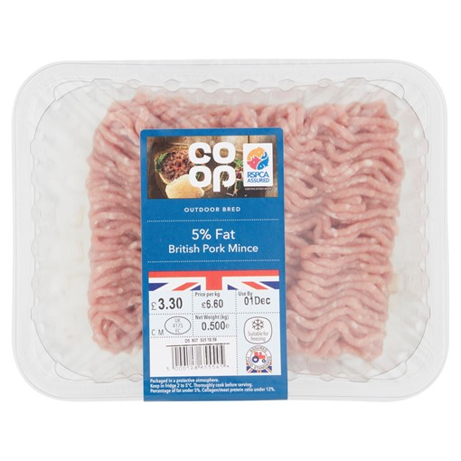 Picture of Co-op Outdoor Bred 5% Fat British Pork Mince