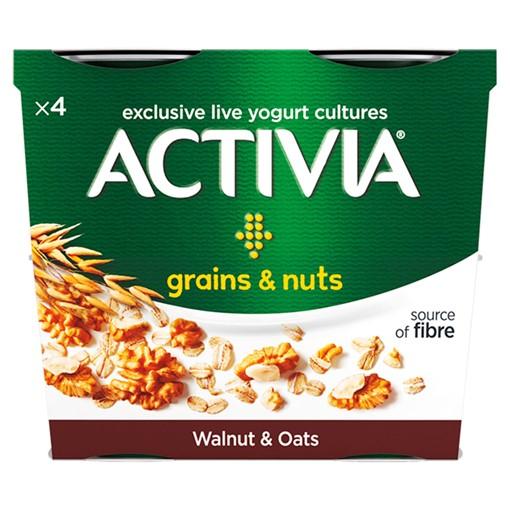 Picture of Activia Walnut & Oats Yogurt 4 x 120g (480g)