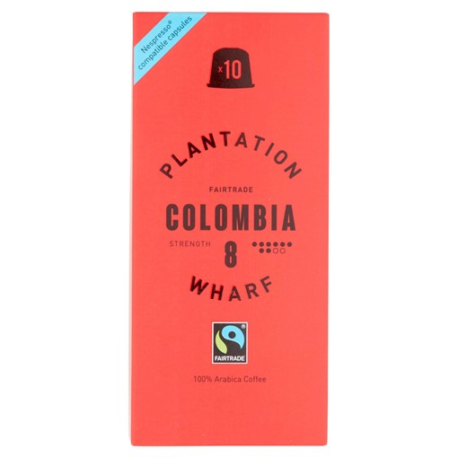 Picture of Plantation Wharf Fairtrade Colombia 10 x 5g (50g)