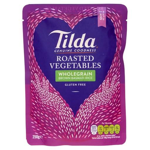Picture of Tilda Roasted Vegetables Wholegrain Brown Basmati Rice 250g