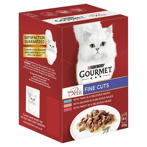 Picture of Gourmet Mon Petit Cat Food Pouches Fish 6 x 50g