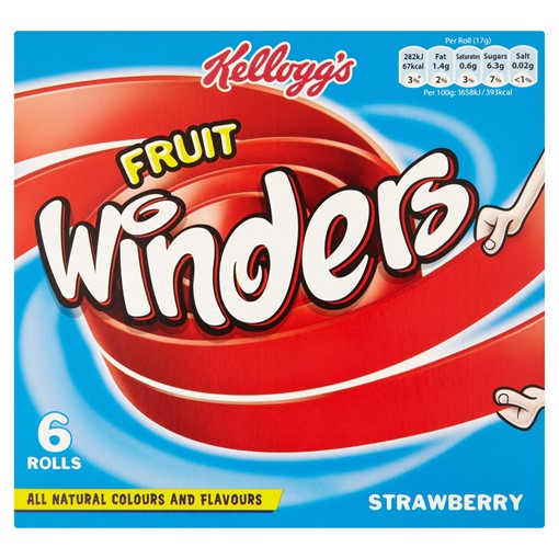 Picture of Kellogg's Fruit Winders Strawberry, 17g (Pack of 6)