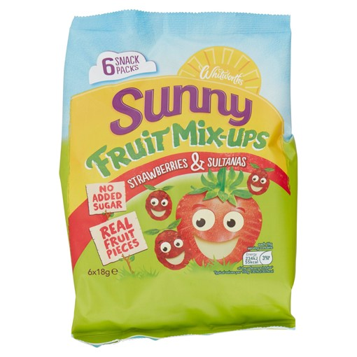 Picture of Whitworths Sunny Fruit Mix-Ups Strawberry & Sultanas 6 x 18g