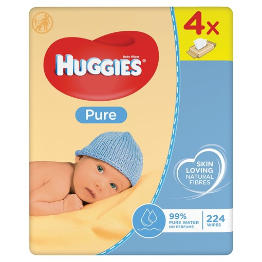Picture of Huggies® Pure Baby Wipes - 4 Pack (56 Wipes/Pack, 224 Wipes Total)