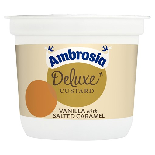 Picture of Ambrosia Deluxe Custard Vanilla with Salted Caramel 110g