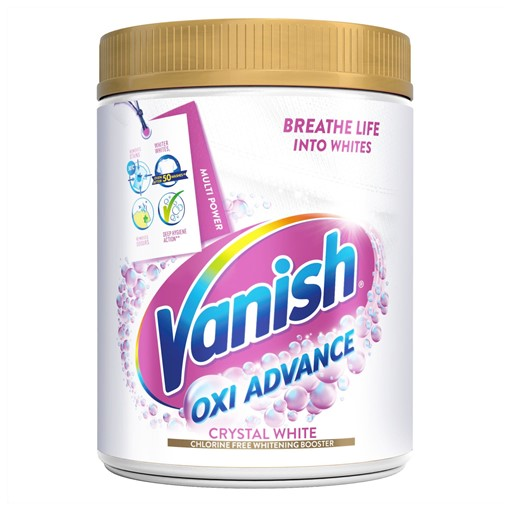 Picture of Vanish Oxi Action Crystal White Powder Fabric Stain Remover + Whitener 1kg