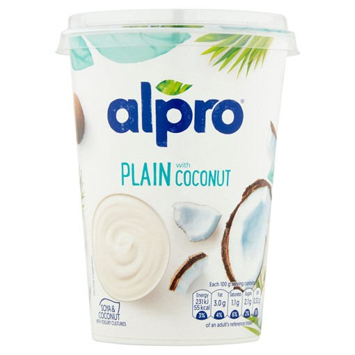Picture of Alpro Plain with Coconut Plant-Based Alternative to Yoghurt 500g