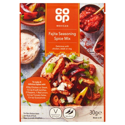 Picture of Co-op Mexican Fajita Seasoning Spice Mix 30g