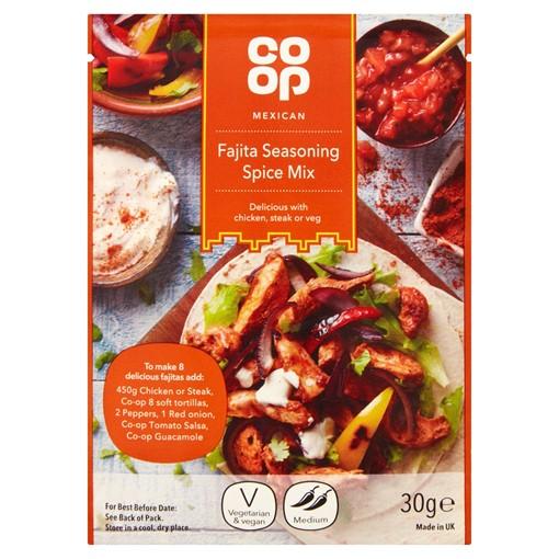 Picture of Co-op Mexican Fajita Seasoning Spice Mix 30g
