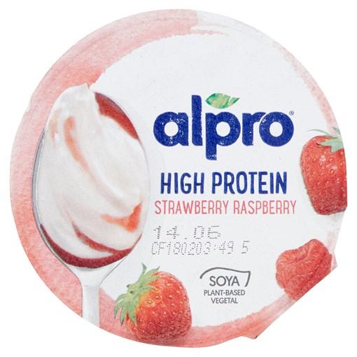 Picture of Alpro Greek Style Strawberry Raspberry Yoghurt Alternative 150g