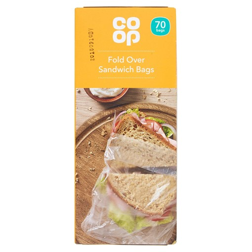 Picture of Co-op Fold Over Sandwich Bags 70 Bags