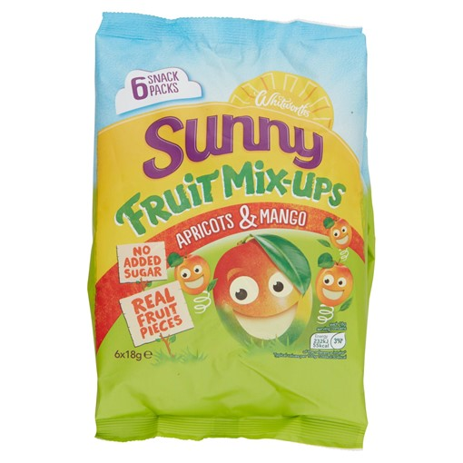 Picture of Whitworths Sunny Fruit Mix-Ups Apricot & Mango 6 x 18g