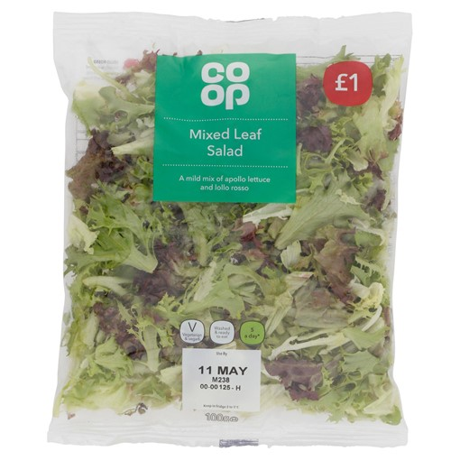 Picture of Co-op Mixed Leaf Salad 100g
