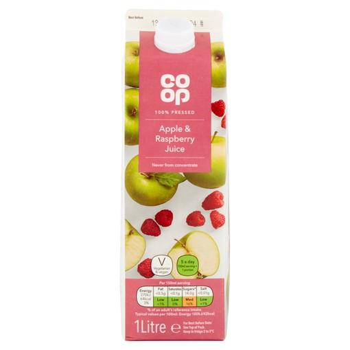 Picture of Co Op Apple & Raspberry Juice 1 Litre