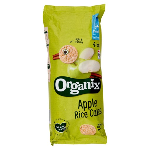 Picture of Organix Apple Organic Baby Finger Food Snack Rice Cakes Multipack 4 x 28g