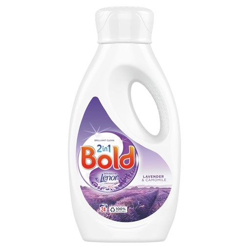 Picture of Bold 2in1 Washing Liquid Lavender & Camomile 840ml 24 Washes