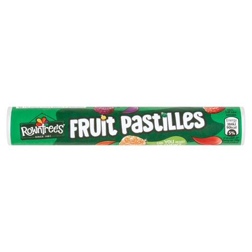 Picture of Rowntree's Fruit Pastilles Vegan Friendly Sweets Tube 50g