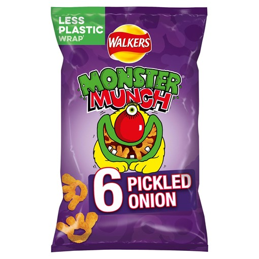 Picture of Walkers Monster Munch Pickled Onion Multipack Snacks 6x22g