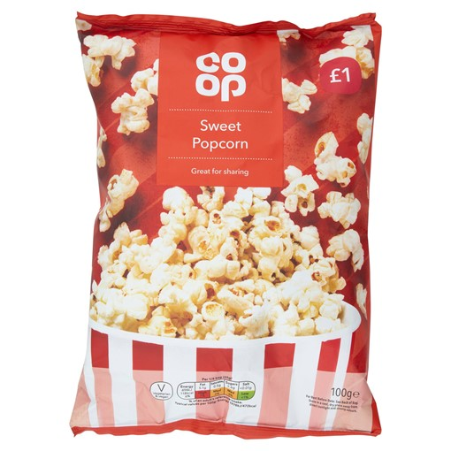 Picture of Co Op Sweet Popcorn 100g