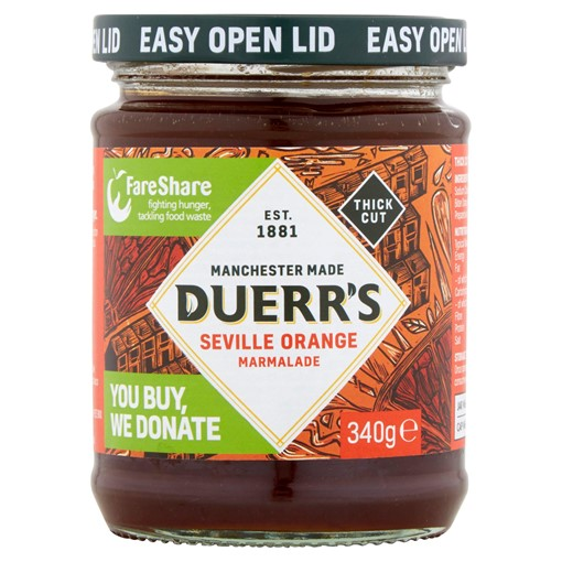Picture of Duerr's Thick Cut Seville Orange Marmalade 340g