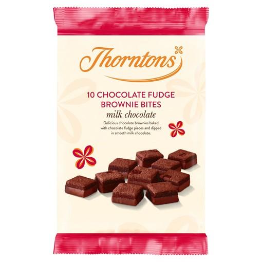 Picture of Thorntons 9 Chocolate Fudge Brownie Bites Milk Chocolate