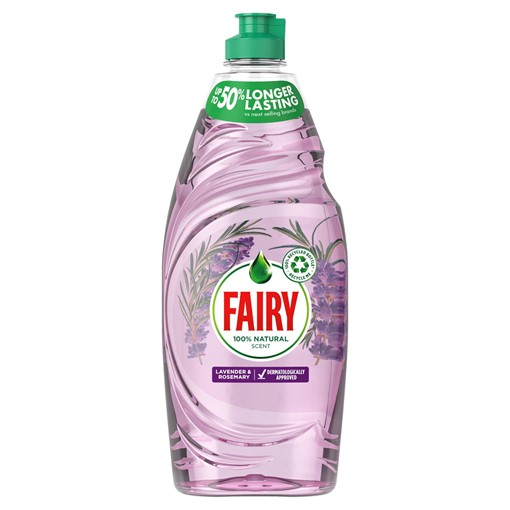 Picture of Fairy Naturals Washing Up Liquid With 100% Natural Scent Of Lavender & Rosemary 625ML
