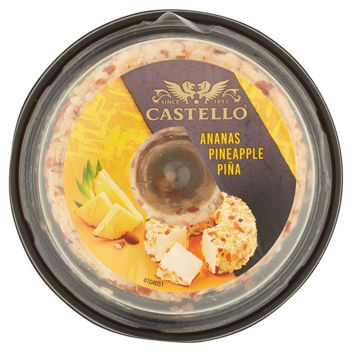 Picture of Castello Pineapple & Almond Cream Cheese Ring 125g