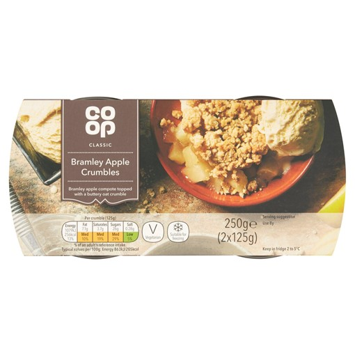 Picture of Co Op Classic Bramley Apple Crumbles 2 x 125g (250g)