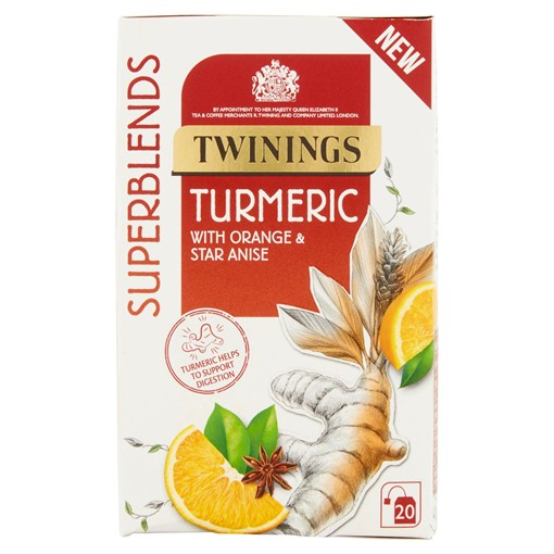 Picture of Twinings Superblends Turmeric with Orange and Star Anise, 20 Tea Bags
