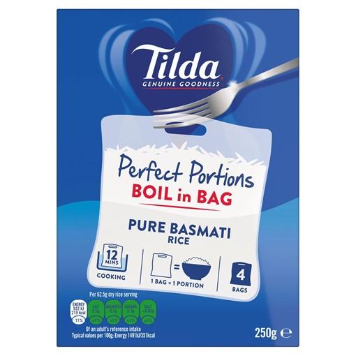 Picture of Tilda Boil in Bag Pure Basmati Rice 62.5g x 4