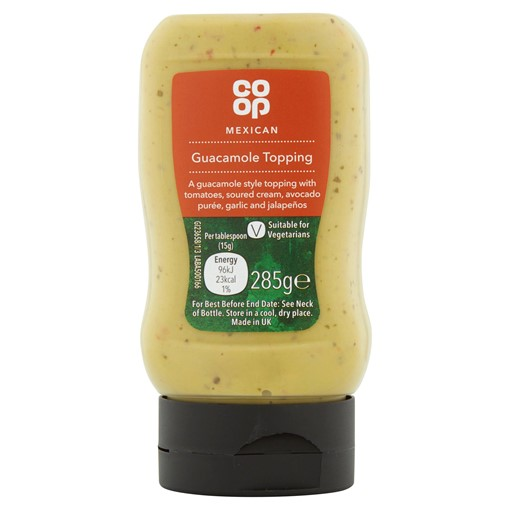 Picture of Co-op Mexican Guacamole Topping 285g