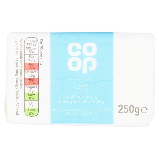 Picture of Co Op Lard 250g